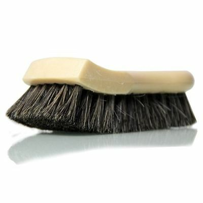 Chemical Guys Long Bristle Horse Hair Leather Cleaning Brush + Rubber Gloves