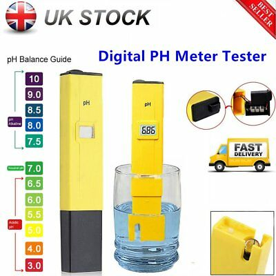 LCD Digital Pen Type PH Meter Tester Hydroponics Aquarium Pool Water Test ToolKG