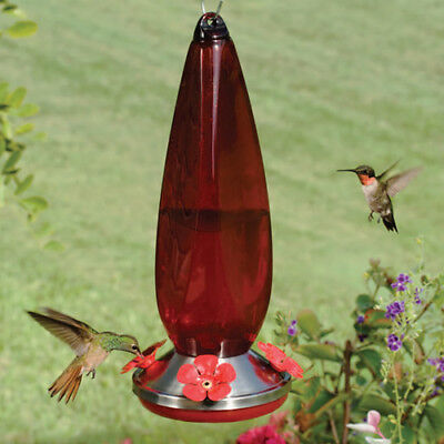 Stokes Hummingbird Bird Feeder Ruby Prism Hiatt Nectar Feeder Hanging 24 oz New