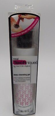 NIB Real Techniques Exclusive Formula Deep Cleansing Gel Brush Cleaner 5.1 oz