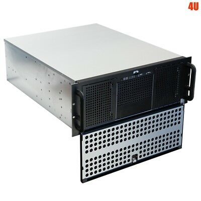 "4U Rack Mount Server Case Lock Door Chassis 3x 5.25″ 10x 3.5"" Drive Bay USB Port"