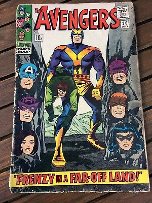 The Avengers # 30 Silver Age Marvel Comic; 1966.