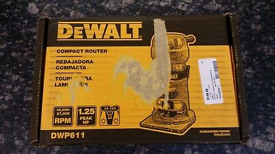 DeWalt DWP611 1-1/4 HP Variable Speed Premium Compact Router with LED's