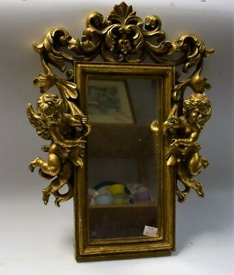 Rare 17Th Or Early 18Th Century Giltwood Mirror Superbly Carved