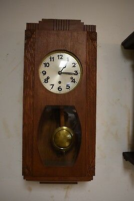 Antique German Junghans Westminster Chime Fine Wall Parlor Clock Circa 1910