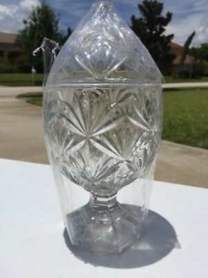 Antique Abp American Brilliant (Floral)Cut Crystal Glass Covered Candy Dish!