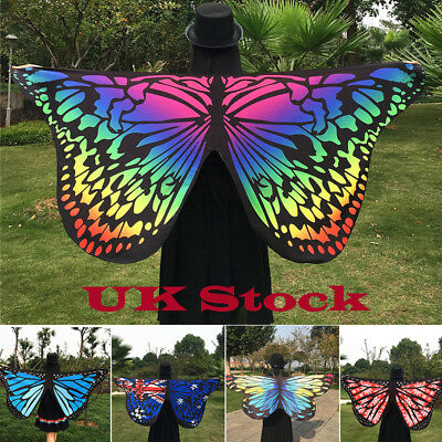 Soft Fabric Butterfly Wings Shawl Fairy Ladies Nymph Pixie Costume Accessory