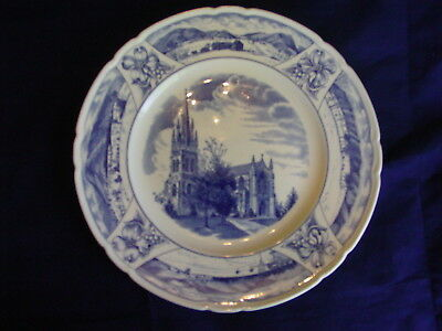Wedgwood collector plate Mercersburg Academy The Chapel Exterior PA blue white