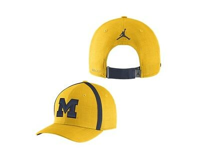 8a08aad609624b ... sweden new nike air jordan university of michigan aerobill sideline  coaches dri fit hat 36905 84f97