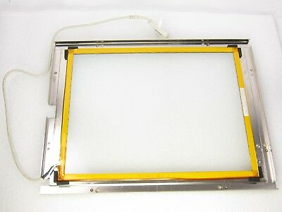 "Microtouch 5504461 Rev 2.3 13-4461-01 12-Pin 15"" Touchscreen Glass Panel"