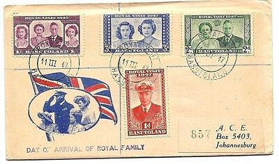 1947 Basutoland (British Crown Colony)First Royal Family Visit  FDC 4 stamp Rare