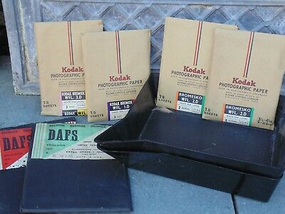 Vintage  kodak photographic paper with trays