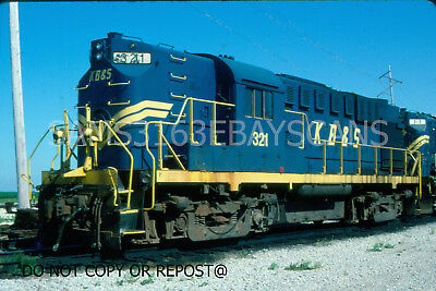 Original Slide Kankakee Beaverville & Southern Rr Alco Rs11 321 Iroquois 2003
