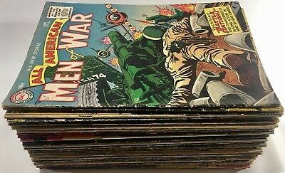 Lot of 50 Mostly GOLDEN & SILVER AGE War-Themed COMIC BOOKS Battle ARMY Navy GI