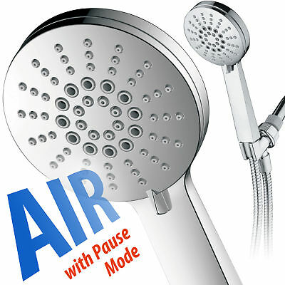 AirJet-300 High Pressure 6 Setting Hand Shower With Extra Long 6 foot Hose