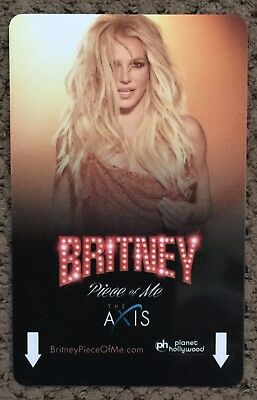 Planet Hollywood BRITNEY SPEARS Piece of Me Las Vegas Hotel Casino Room Key