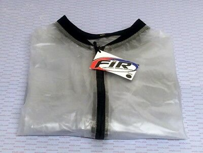 Motocross Trials MX Enduro Off Road Waterproof Rain Mud Jacket Clear Medium J607