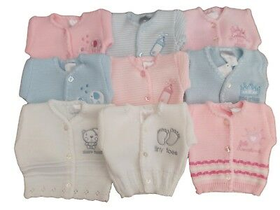 BNWT Tiny baby Premature knitted cardigan. Various designs.