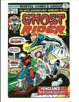 GHOST RIDER (Vol.1) # 15 (CENTS ISSUE, DEC 1975), FN/VF
