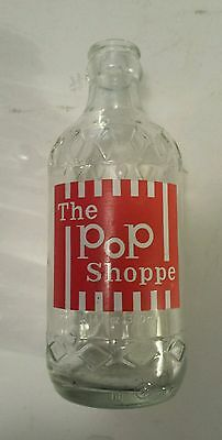 "Scarce ""pop Shoppes Of America""10.14 Oz Embossed Returnable Bottle-Red/white Acl"