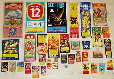 """""""36"""" Different New & Vintage Firecracker Labels--Scorpion-Yick Loong-Big 12+More"""