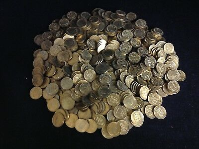 5lb Uncirculated Lot Bailwick of Jersey Threepence all 1957