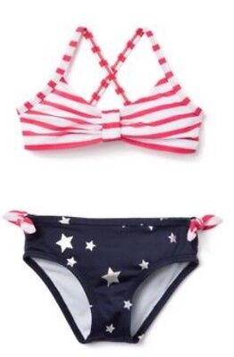 Gymboree Girls Americana Shop Fourth Of July Red White Blue Swimsuit Nwt 18-24 M