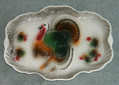 Vintage 1950's  Large Turkey Platter from Lane & Co Van Nuys California Pottery