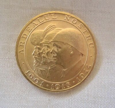 Romania 1944 Kings 20 Lei Gold Coin, I Year Only, War Issue; 6.5 Gr Of .900 Gold