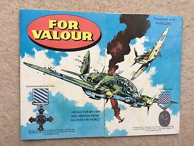 Free Gift - For Valour Badge Album - Warlord #232 - D.c. Thomson - 1979