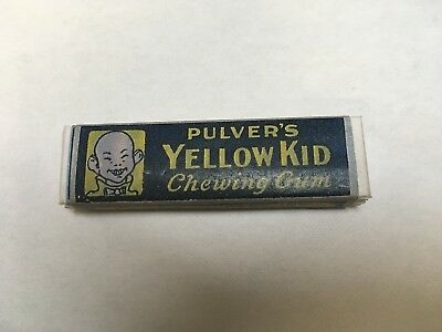 1920's Pulver Yellow Kid Chewing Gum Reproduction Pack Of 5 Sticks