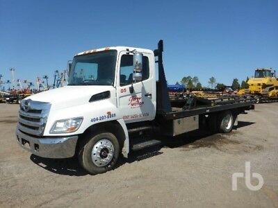 2013 Hino 258 Roll Back Tow Truck 3 Car Hauler One Of A Kind Air Brakes 21Ft Bed