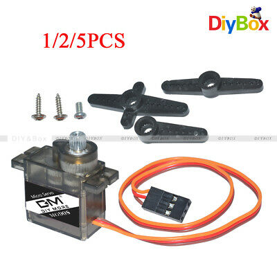 1/2/5PCS MG90S Micro Metal Gear 9g Servo for RC Plane Helicopter Boat Car