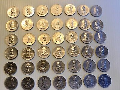 1968 Shell Presidential Coin Lot of 48 Mr. President Coin Game Vintage