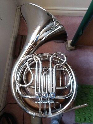 Selman nickel-plated single French horn