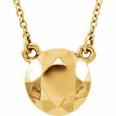 """Faceted Design Circle 16.5"""" Necklace In 14K Yellow Gold"""