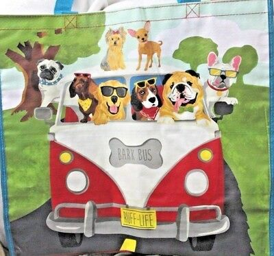 VW Bus - Bark Bus Dachshund Pug Beagle Yorkie Bulldog Dogs Reusable Shopping Bag