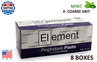 Element Prophy Paste Cups Mint X-Coarse 200/box Dental W/fluoride - 8 Boxes