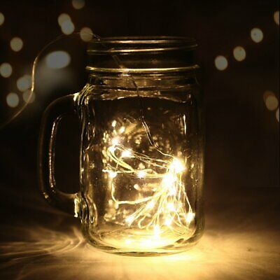 20/30 Led Micro Silver Wire String Fairy Light Party Xmas Wedding Christmas Lamp