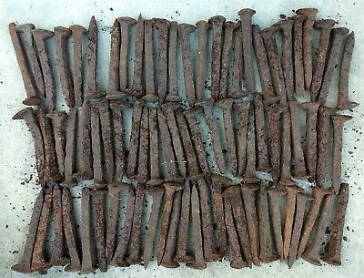 80 Antique Railroad Spikes, Extremely Rusted Welding decor steel stock