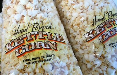 Hand Popped Kettle Corn Poly Bags 8.5 X 18 Inches     (Package of 10 )
