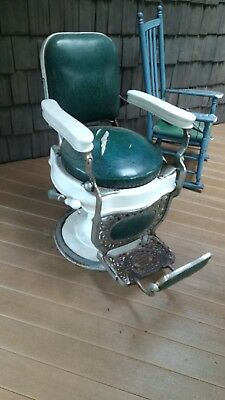 Antique Theo A. Koch Barber Chair 1890s