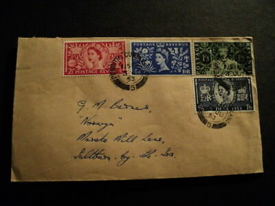 1953 Coronation First Day 6/3/53 Set Of 4 Stamps