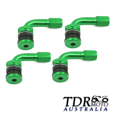 Green 4x Tyre Valve Extension 90 Degree Angle Adaptor Motorcycle Tyre Wheel Stem