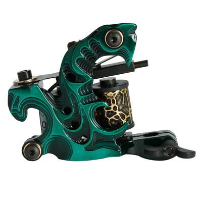 Aluminum Alloy Starter 10 Wraps Coils Tattoo Machine Gun for Liner Shader Green