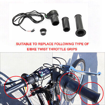 3 Wire EBike Twist Throttle 24/36/48V Electric Scooter Bicycle Grip Handlebar