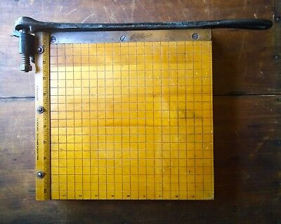 Vintage Ingento No. 3 Small Paper Cutter 10""