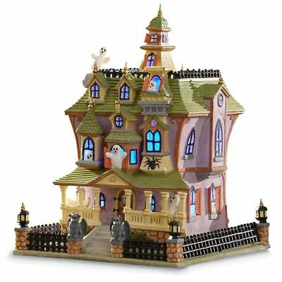 Lenox Spooky Manor Lighted House Halloween Decoration Centerpiece NEW in Box