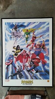 Avengers Earth's Mightiest Heroes John Buscema/Alex Ross Dynamic Forces litho