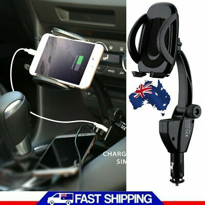 Universal USB Car Cigarette Lighter Mount Holder Charger for Samsung iPhone XS 8